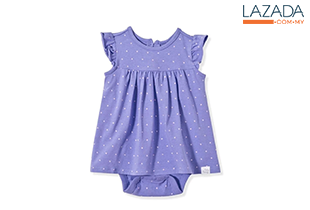 BABY PONEY ALL-OVER POLKA DOT PRINT DRESS (PURPLE)