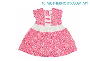 Baby Kiko Girl Short Sleeve Dress (Pink)