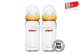 [Best Buy For 2] Pigeon PG 00876 WN PPSU Bottle PPlus Nipple M 240ml x 2