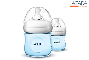 Avent Natural Blue Bottle 4oz / 125ml x 2 (Twin Pack)