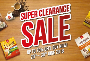 Qoo10 x Super Promotion: Clearance Sale! Up to 70% off on coffee deals & more + grab extra 15% off coupon. Promotion ends 31 July 2018.