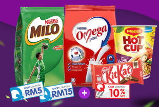 Qoo10 11.11 Deal: Grab up to RM15 Nestle shop coupons, extra 10% off with RM50 min purchase, & get free shipping with purchase above RM80! Promotion ends 30 November 2018.