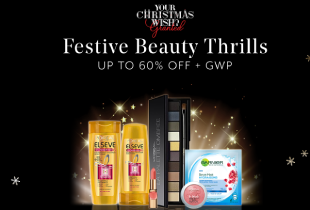 Hermo Deal: L'oreal Festive Beauty Thrills - Up to 50% off L'oreal Sitewide.