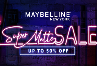 Hermo Maybelline Super Matte Sale - 20% off brandwide + 50% off on selected heroes.