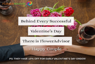 Flower Advisor Deal: Get 15% off for all customers using code, EARLYVDAY15*