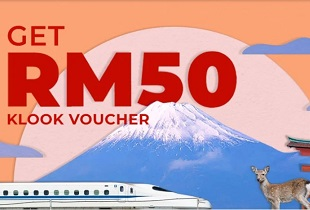3% Upsized Cashback for [Ordinary Car] 7 Day Whole Japan Rail Pass (Malaysia Mail Delivery) + RM50 Klook Voucher